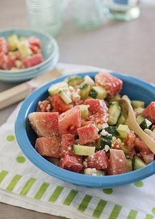 watermelon salad -beauty