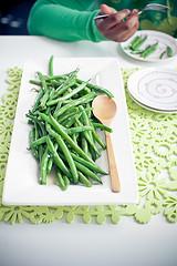 garlicky green beans beauty